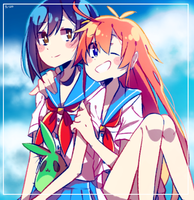 flip flappers! by penchuu