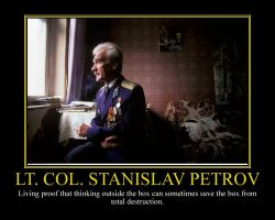 Lt. Col. Stanislav Petrov Motivational Poster by DaVinci41