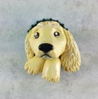Cocker Spaniel Pop-Out Button by LeiliaK