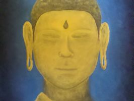 Golden Buddha by kahil