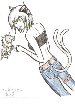 Female Demy and Outlaw Pup by ToraKetsueki