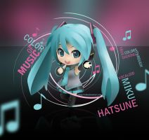 Color of Music : Miku Hatsune by thecuriousartist
