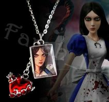 Alice: Madness Returns heart necklace by crafting-Farah