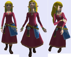 Skyward Sword Zelda over Brawl Zelda by Demonslayerx8
