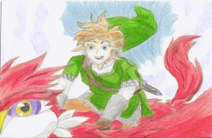 AT: Link and Loftwing by SugarBubbles2000