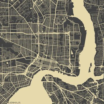 Jacksonville by MapMapMaps