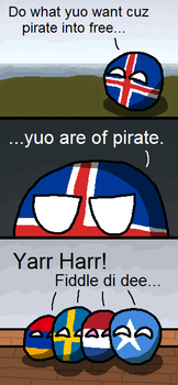 Polandball - Yuo are of Pirate by CeskyMicek