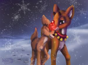 Rudolph and Clarice by Called1-for-Jesus