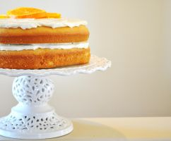 Orange Cream Cake by TantalizedBaker