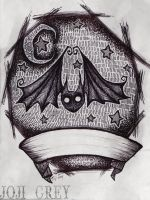 Bat Tattoo Design by TheKingOfMoths