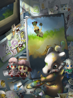 Cubone's Room by RedTyphlo