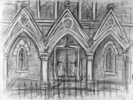St Andrew's Church Sketch 2 by rawjawbone