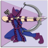 Shadowbox Mock-up: Classic Hawkeye by The-Paper-Pony