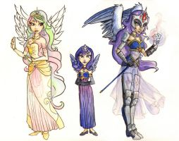 My Little Pony Princesses by gambitgurlisis