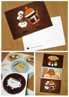 Afternoon Tea Postcards by orangecircle