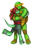 Commission: Alex and Michelangelo by nataliahusada