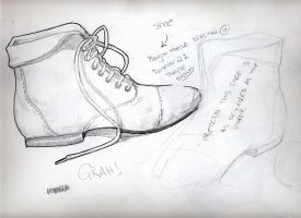 sketch of a shoes by wiccimm