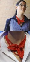 Irish red necklace by knotsme