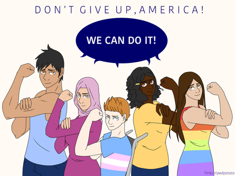 Don't give up! (Love from Canada) by PinkStripedPotato