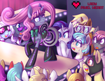 Velvet's Fashion Show Art Trade with Carnifex by ladypixelheart