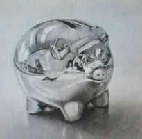 piggy bank by Szikee