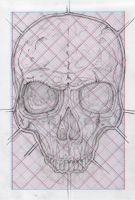 Book of Skulls for 3D specs Drawing IV by MADrussky