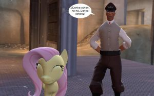 Medic and Fluttershy 2 by WilliamCosta303