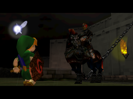 Link confronts Ganondorf by Toriku
