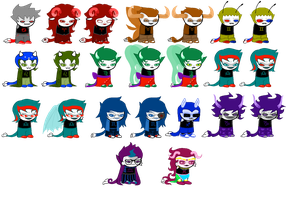 ChimeraStuck Beta Trolls by sariasong64