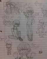 Sketches filled with Edda LOL by RabbitLuver21