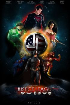 Justice league movie poster by vatralaus