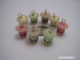 Bubble tea charms by SPiCEYRiCEY
