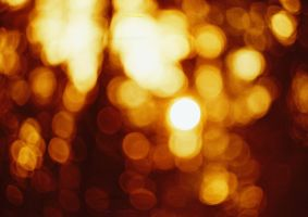 Redscale bokeh by Crypt012