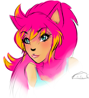 Anthro Sofie by sonicbae