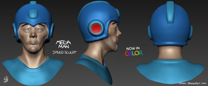 3D Speed Sculpt 1: Depressed Megaman (Colored) by Hnser