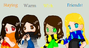 staying warm with friends 8D by Mangabot