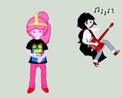Adventure Time: Bubblegum and Marceline - Pajamas by icanhascheezeburger
