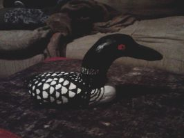 Ceramic  Common Loon by DrZurnPhD