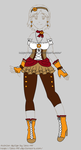 Fashion Design1: Steampunk by izka-197
