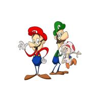 The Mario Brothers by Zwollie