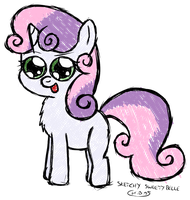 Sketchy Sweetie Belle by chibi95