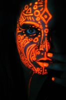 Neon Queen of Orange by BlackMagdalena