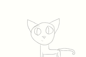 Cat lineart by Mint-Apples