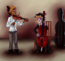 Musician AU by ashe-the-hedgehog
