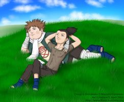 Chouji and Shikamaru by hellena