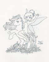 Tinkerbell and Rainbow Dash by JessFox