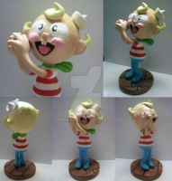 Flapjack Sculpture by GrimRose13