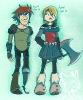 Hiccup and Astrid 1.5 by Psychoon