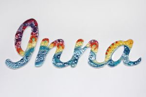 Quilled name by InnaAdamenya