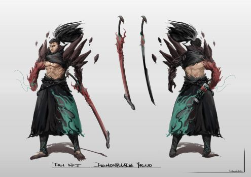 Demonblade Yasuo Concept Fan Art by wacalac